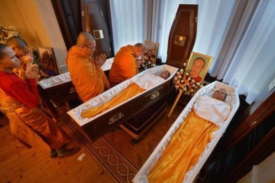 Mourners Pay Their Respects At The Funerals Of Three Thai Buddhist Monks Killed On Christmas Eve